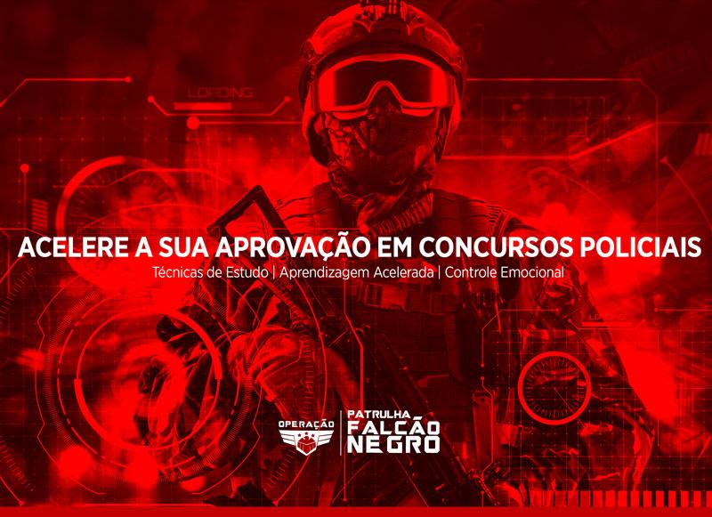 Mentoria para concursos policiais - Falcao Negro