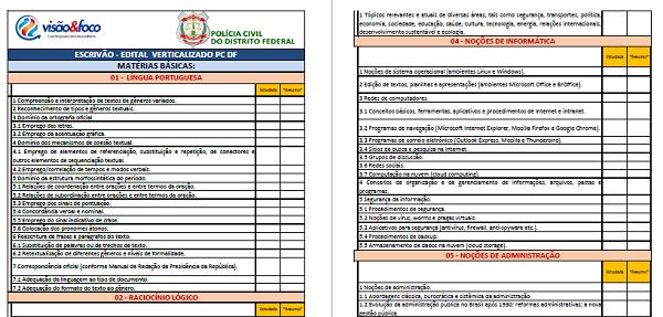 edital verticalizado para Concurso pcdf - Policial Civil DF